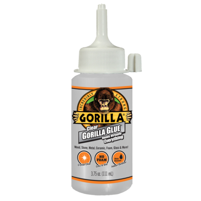 "חדש! דבק גורילה שקוף רב שימושי 111 מ""ל Clear Gorilla Glue"